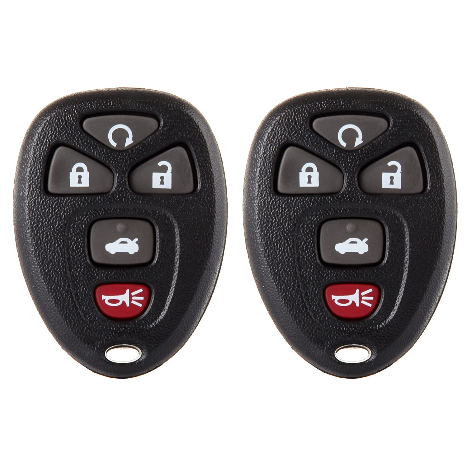 Pack of 2 ECCPP Replacement fit for Uncut Keyless Entry Remote Control Car Key Fob Shell Case Chevy Buick Pontiac Series KOBGT04A