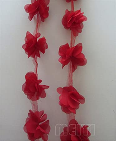 Hecho A Mano Vintage Shabby Chic Boda de Encaje Flores De Tela Manualidades