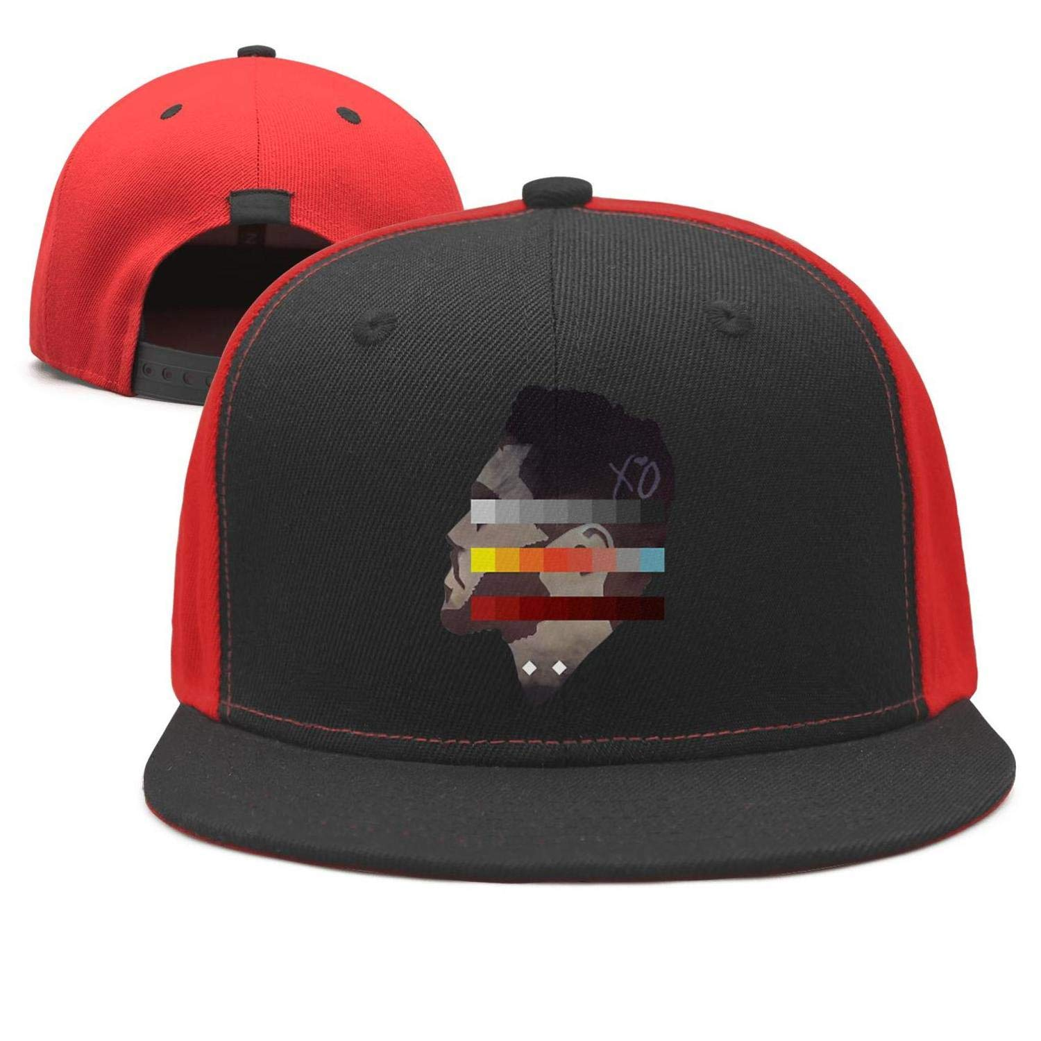 Amazon.com  The Weeknd Side Face Colorful Painting Unisex Black Baseball Hat  for Mens Womens Outdoor Caps  Clothing 81f6ca482fa5
