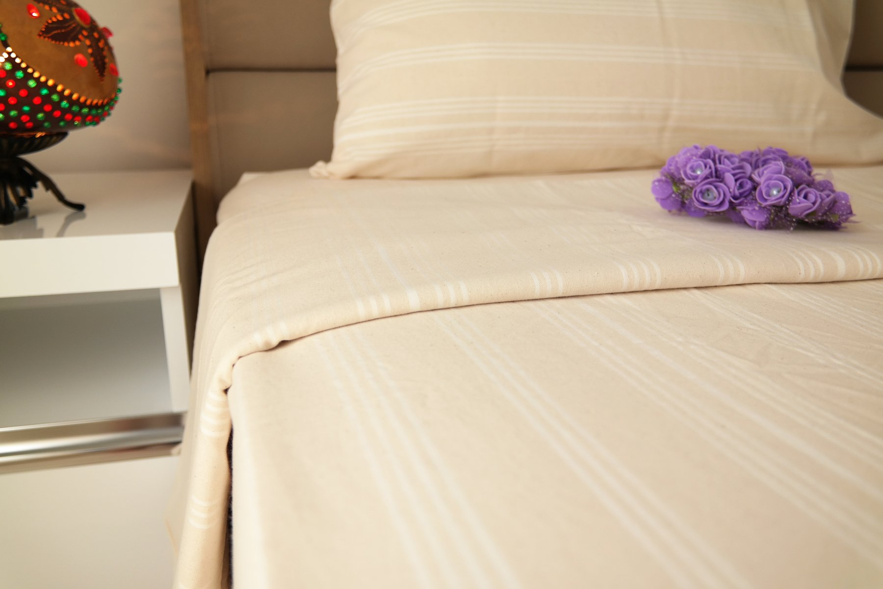 Bepoe 100% Pure & Organic Cotton Bed Linen Sheets Set Natural Dyed Stonewashed Softened Chemical Free (Twin) by Bepoe