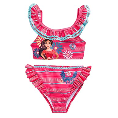 8790281a2b7 Amazon.com: Disney Elena of Avalor Swimsuit for Girls - 2-Piece Pink ...
