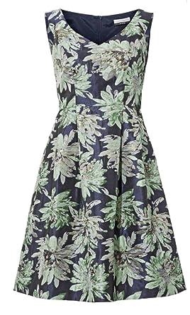 564105fb4630 Guido Maria Kretschmer Damen Designer-Jacquardkleid, dunkelblau-bunt  Amazon .de  Bekleidung