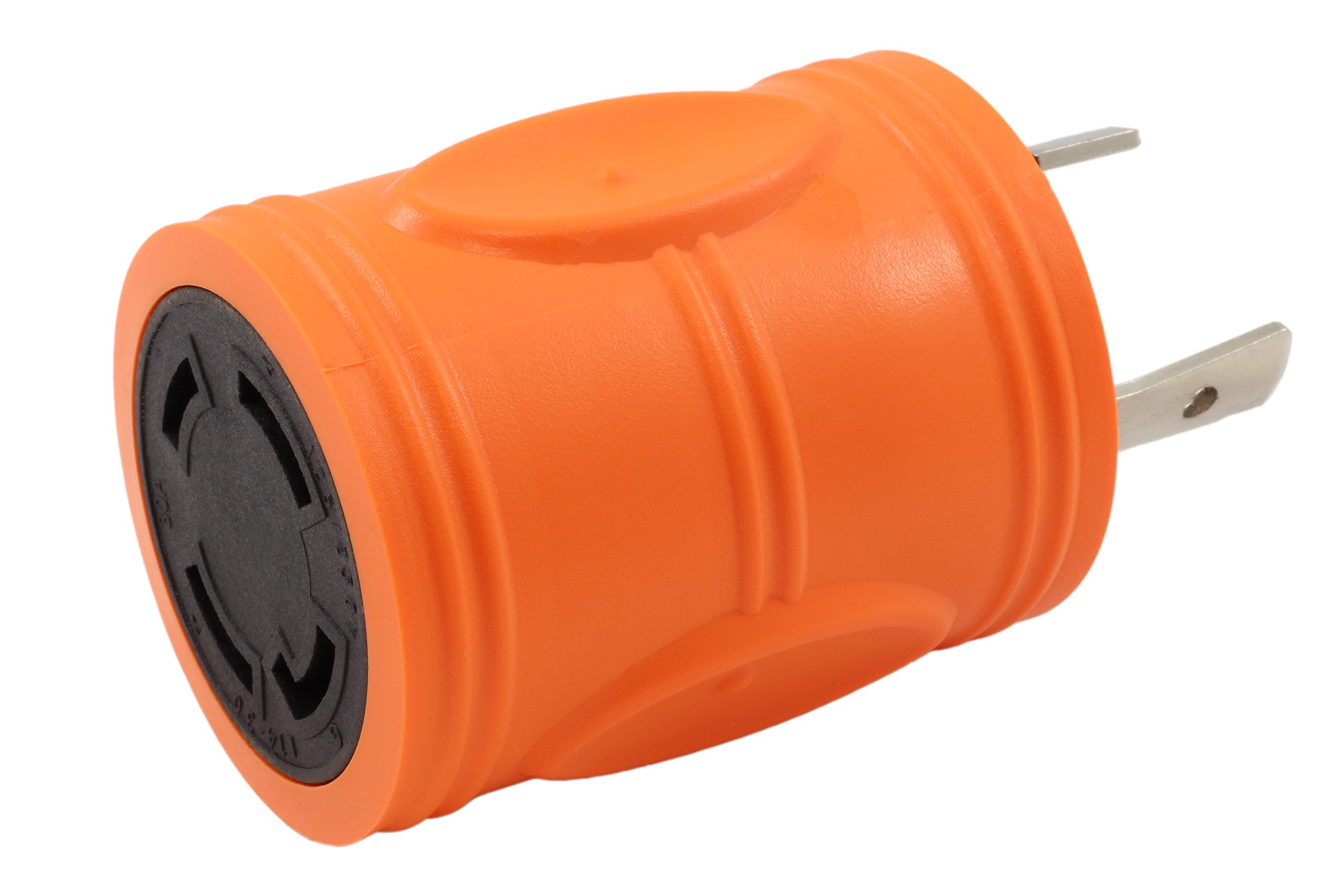 AC WORKS [ADL630L1430] Locking Adapter L6-30P 30Amp 250Volt Locking Plug to 4-Prong 30Amp L14-30R Adapter