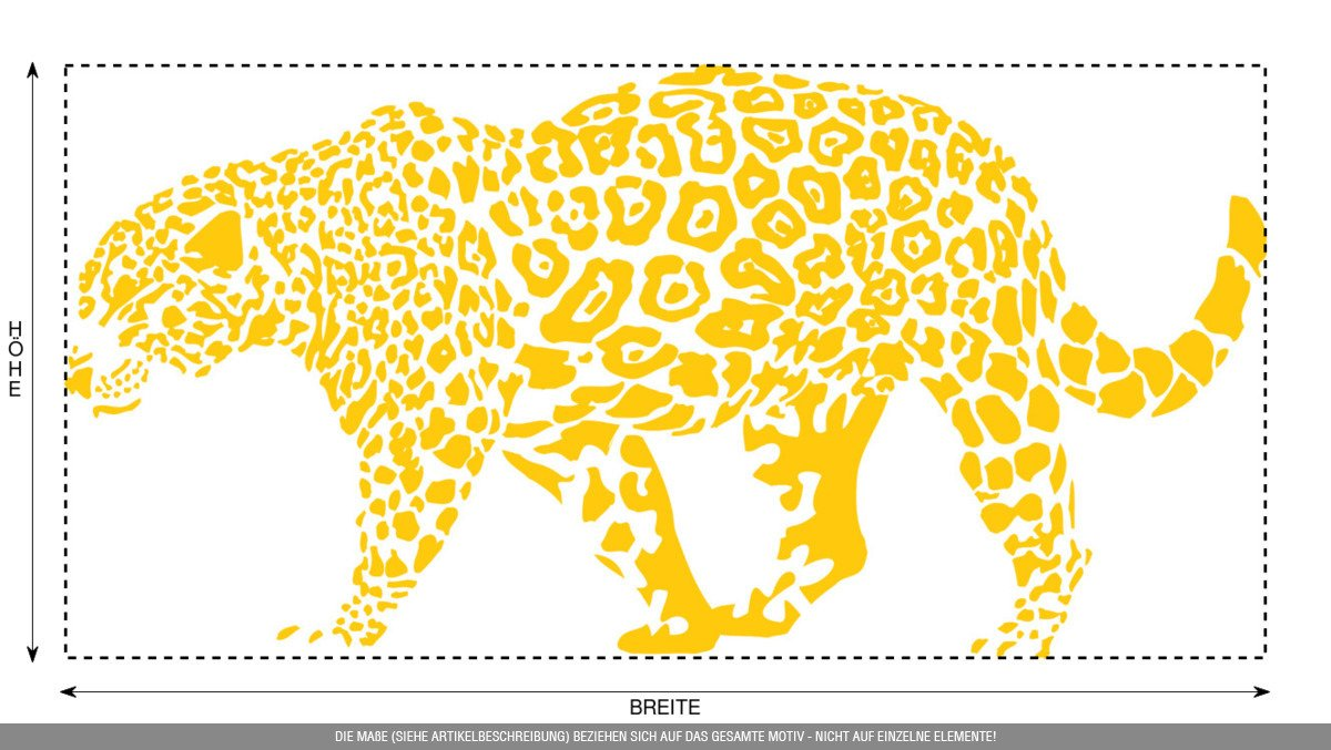 CLICKANDPRINT Aufkleber » » » Leopard, 150x74,4cm, Türkis • Wandtattoo   Wandaufkleber   Wandsticker   Wanddeko   Vinyl B073X89ZB7 Wandtattoos & Wandbilder 8eecf7