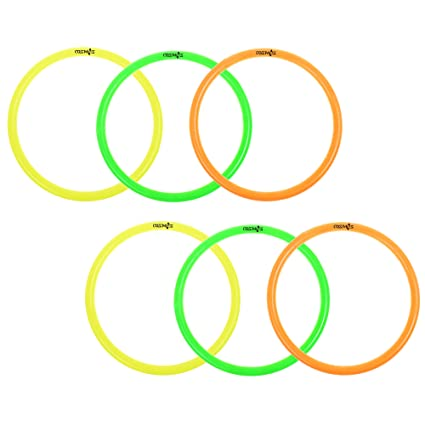 Amazon.com: Cosmos 6 Pcs Large Size Plastic Toss Rings for Speed and ...