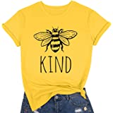 Be Kind T Shirts Women Funny Inspirational Teacher Fall Tees Tops Cute Graphic Blessed Shirt Blouse