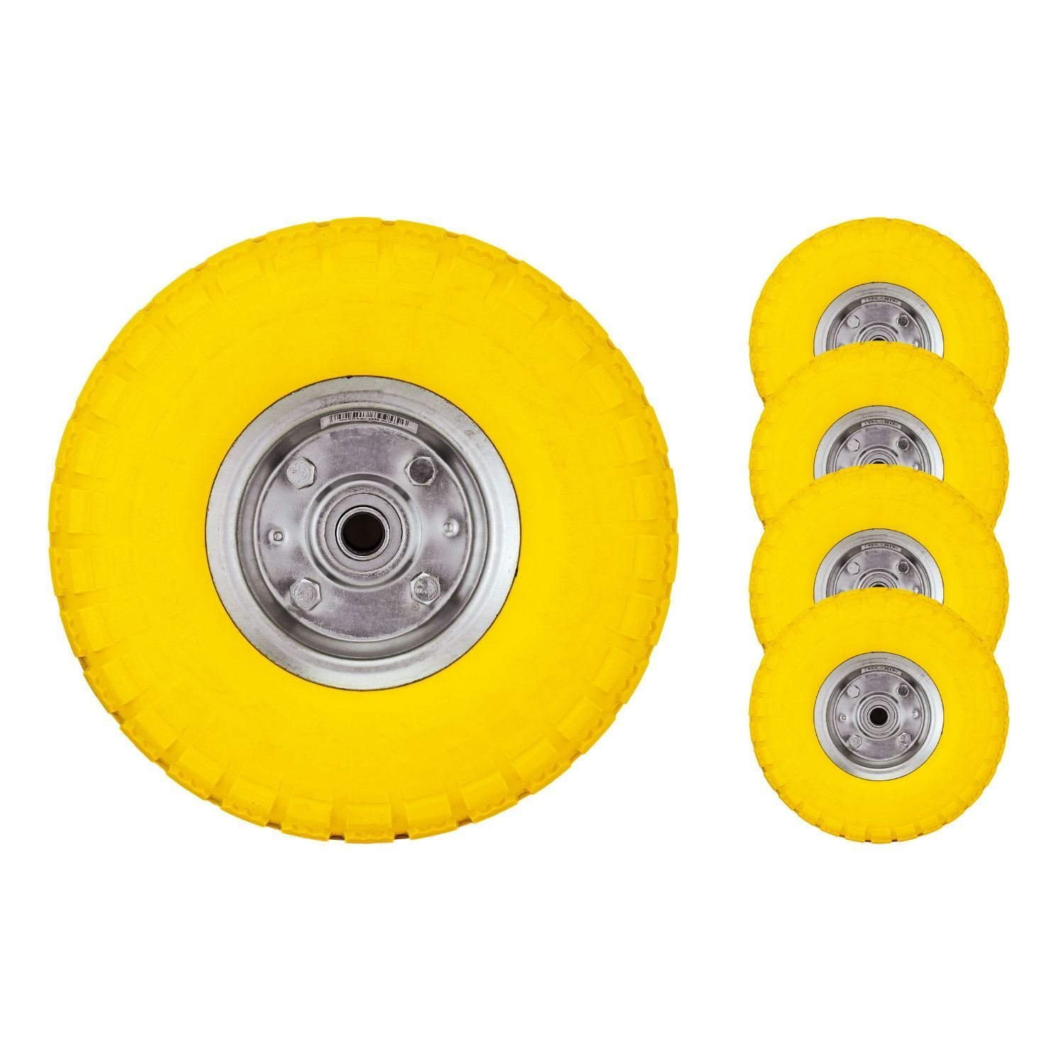 Bond Hardware® 4 x 10' Yellow Sack Truck Hand Trolley Cart Wheelbarrow Solid Rubber Wheel Tyre Tires