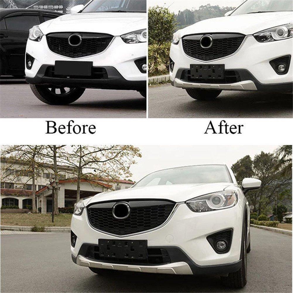 baodiparts 1 Juego de Placa Protectora para Parachoques Delantero y Trasero de Acero Inoxidable Plateado para Mazda CX-5 CX5 2012-2016: Amazon.es: Hogar