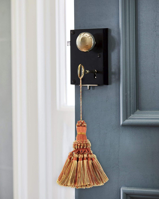 BEL AVENIR Set of 4 Elegant Polyester Tassel Colorful Craft Tassels Charms Key Tassel DIY Accessories for Curtain and Home Decor Orange
