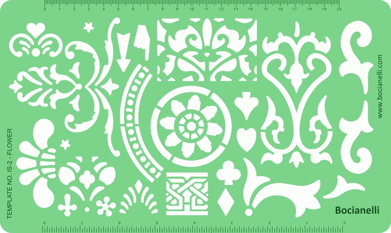 Plantilla diseño de dibujo para diseño Plantilla de artesanías y joyas, estampados de hojas y flores b9bf0d