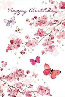 "Special Friend Birthday Card Bright Butterflies /& Big Grey Tree 7.75/"" x 5.25/"""