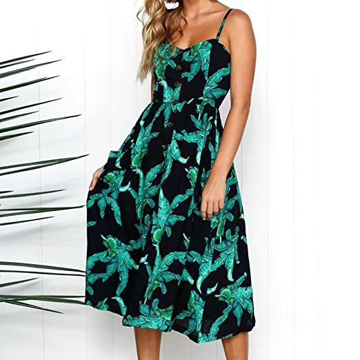 81ec66bd5112 Coats, Jackets & Vests Vests Gyoume Floral Print Dress Women V Neck Short  Sleeve Dress Beach ...