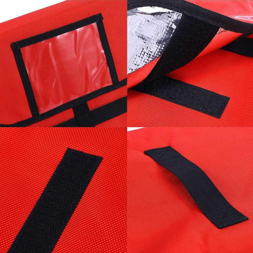 Oxford Bolsa de almacenamiento de conservaci/ón de pizza con aislamiento t/érmico para pizza de show awhao-123 Bolsa de entrega de pizza con aislamiento Bolsas de entrega de pizza con papel de aluminio
