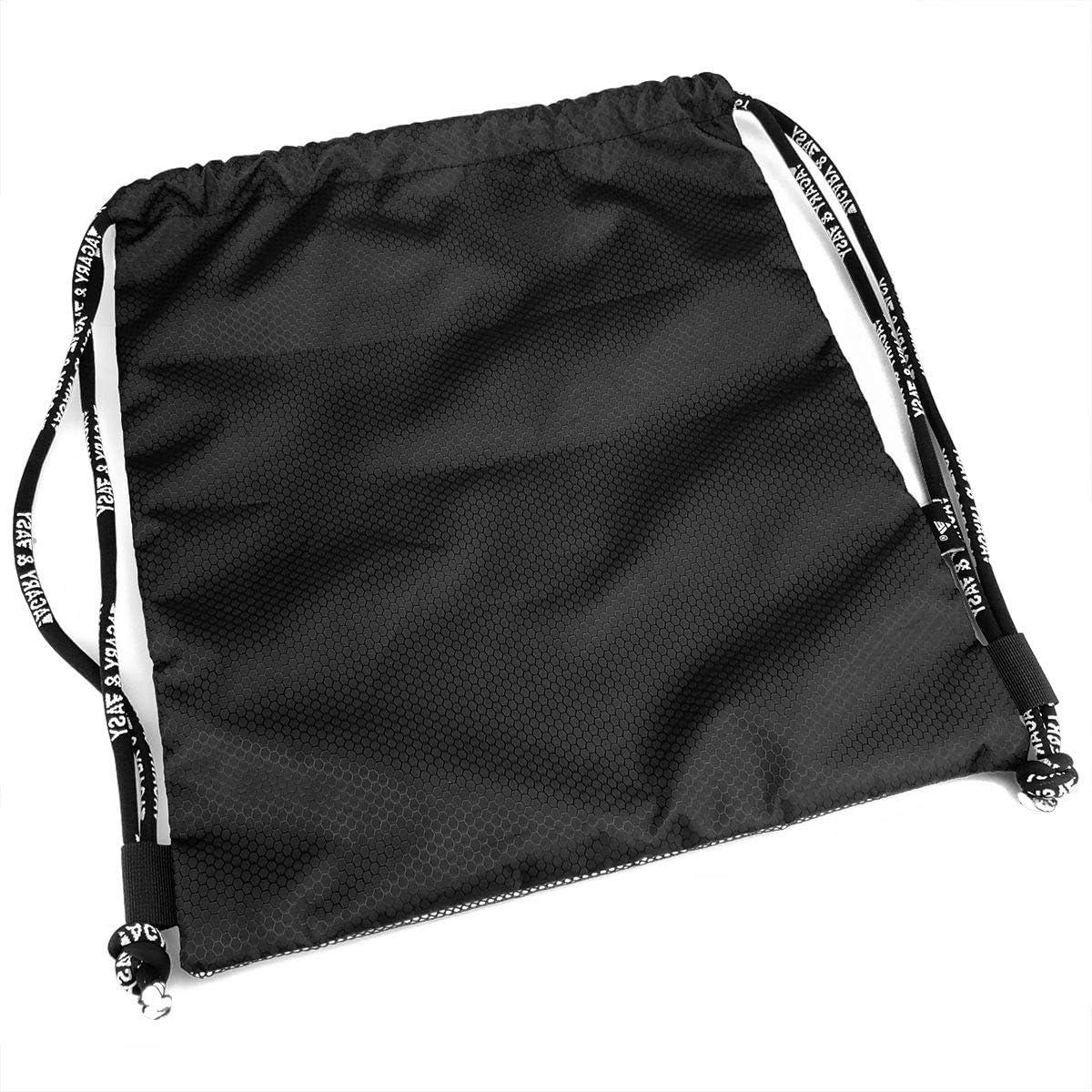 Yackpa Navy Copper Fractal Customized Drawstring Backpack Front Zipper Mesh Bag Unisex For Travel Fitness