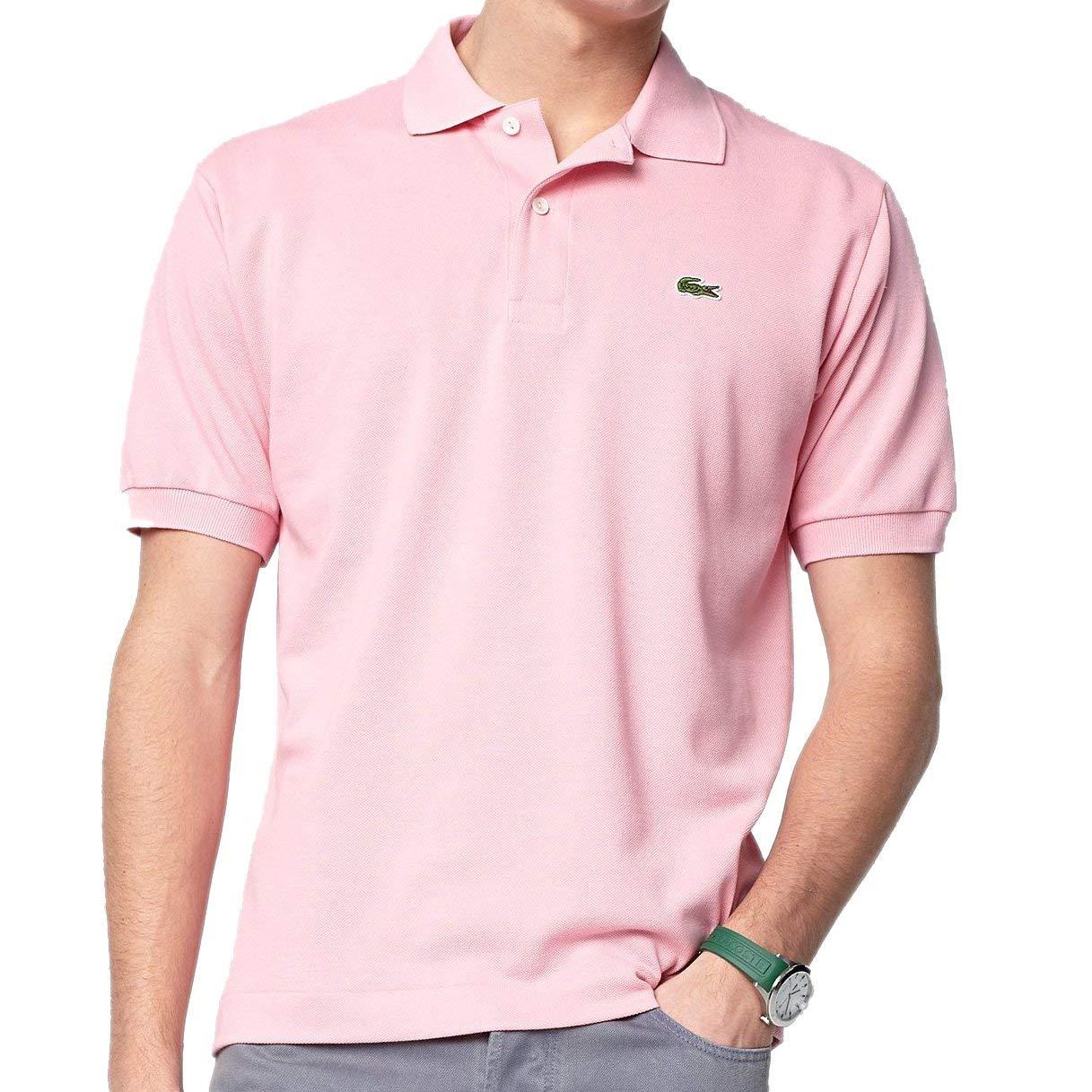 74231546 Lacoste Men's Classic Short Sleeve L.12.12 Pique Polo Shirt,Flamingo  Pink,XX-Large