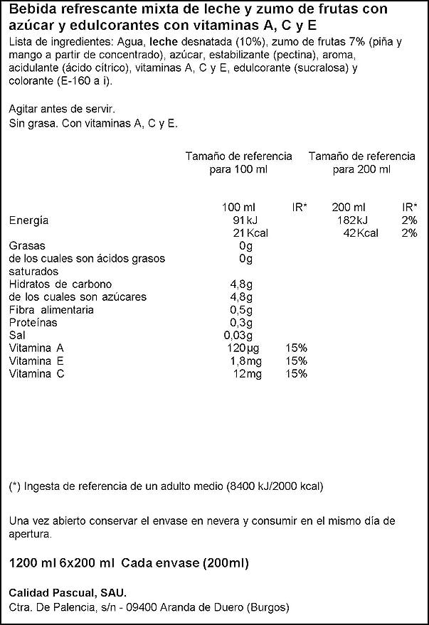 Bifrutas - Zumo de frutas tropical - 6 x 200 ml: Amazon.es: Alimentación y bebidas