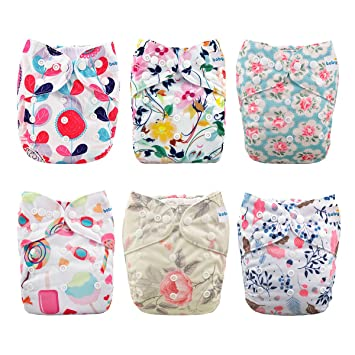 57c21f3fb Amazon.com   Babygoal Baby Cloth Diapers for Girls