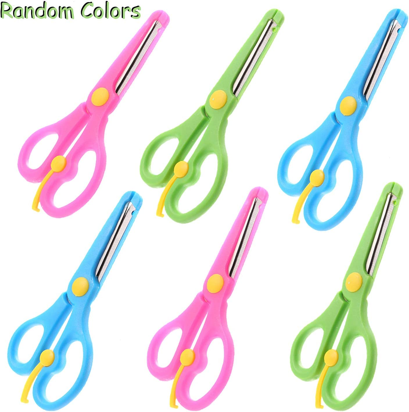 Pack of New 2-4 Animal Pattern Kids Safety Scissors for Home,School Arts /& Craft