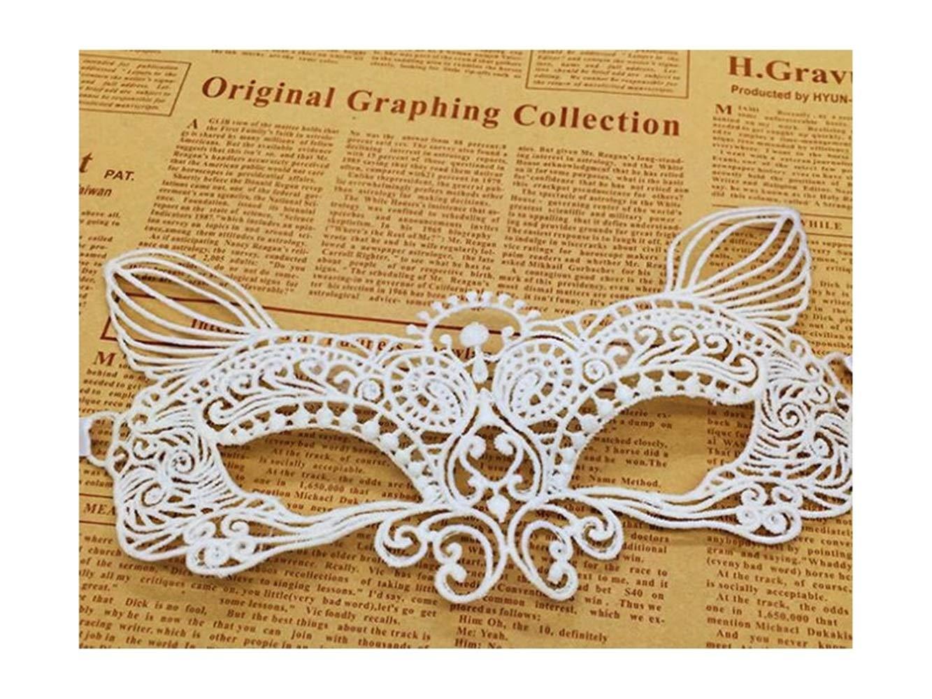 Amazon.de: Rosetreee Halloween Dekoration Katze Lace Cutout Maske ...