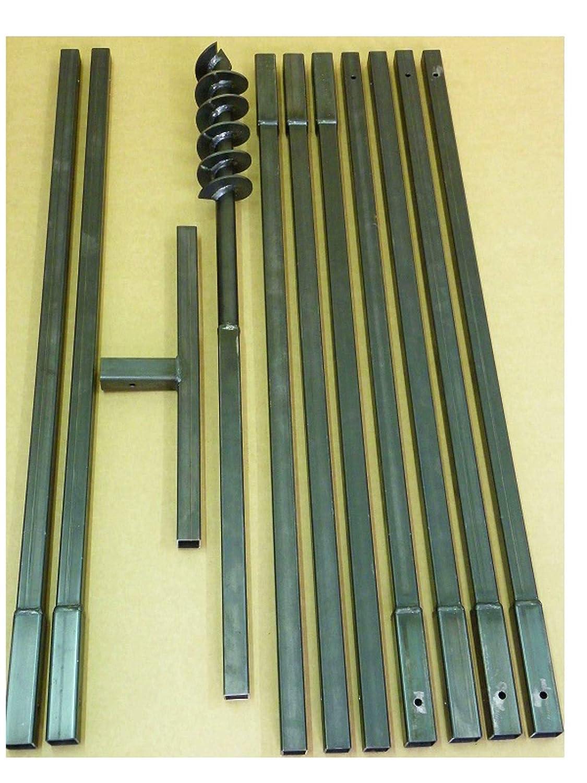 MWS-Apel Erdbohrer Erdlochbohrer Brunnenbohrer Pfahlbohrer 90 mm 10 meter Handerdbohrer Bohrgerät f. Brunnen und Rammfilter