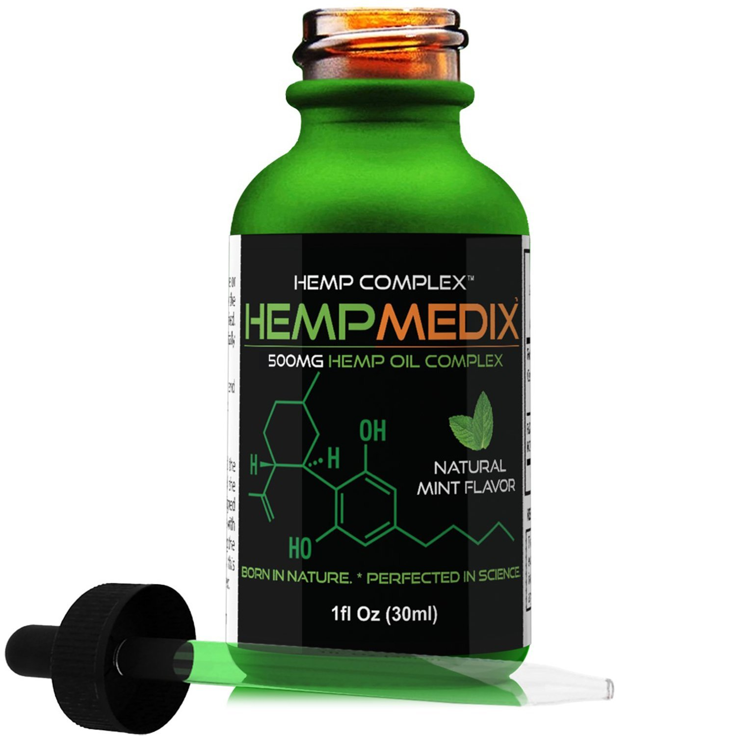 HempMedix Hemp Oil 500mg Full Spectrum Therapeutic Hemp Oil Extract - Pain Relief
