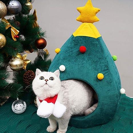 XXDYF Cama Gato Nido para Mascotas Cama de Perro árbol de Navidad ...