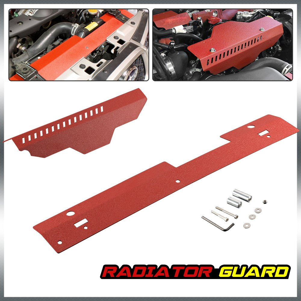 Radiator Shroud & Pulley Belt Cover Combo For 2002-2007 Subaru WRX & STi 2003 2004 2005