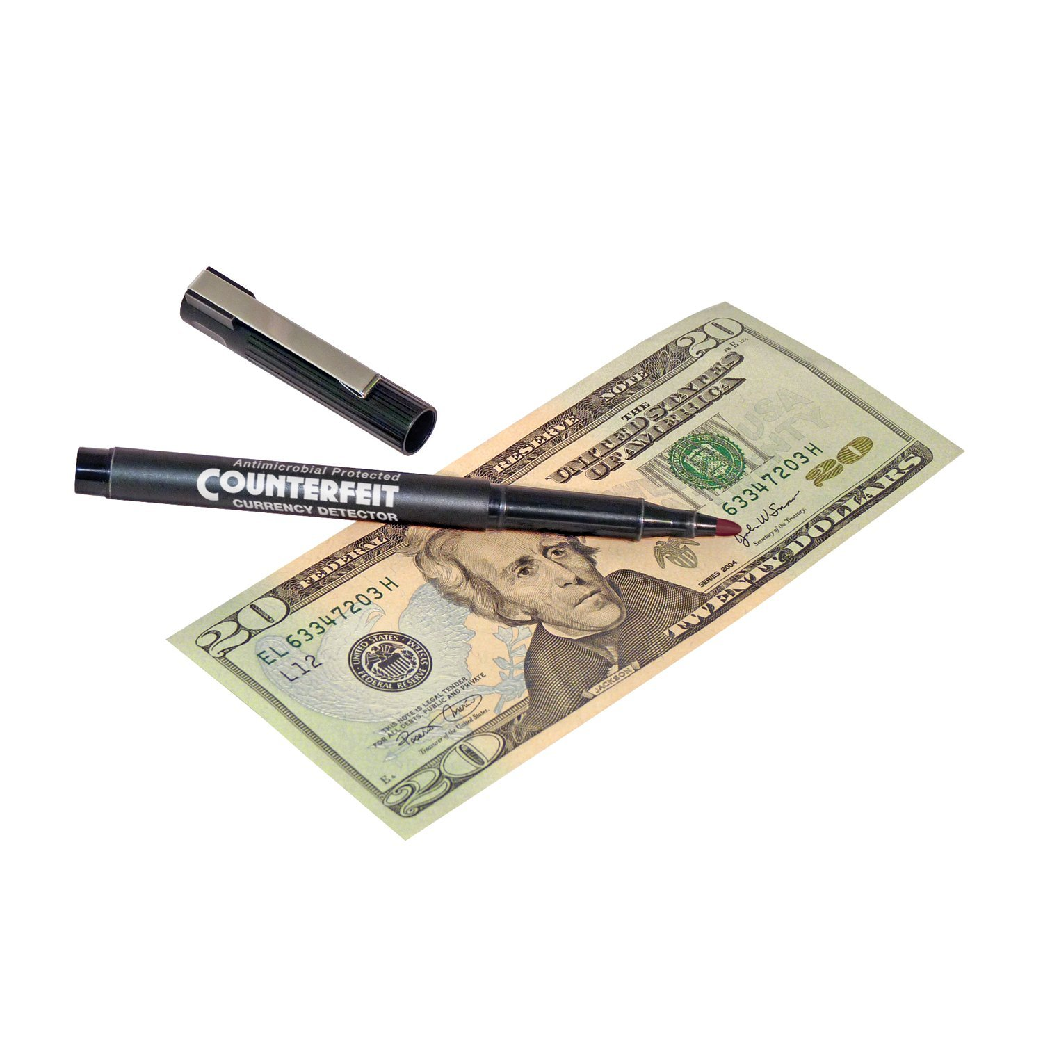 MMF Industries Counterfeit Detector Pen, 5.5 Inches, 12 Pens per Pack, Black Barrel (200045112)