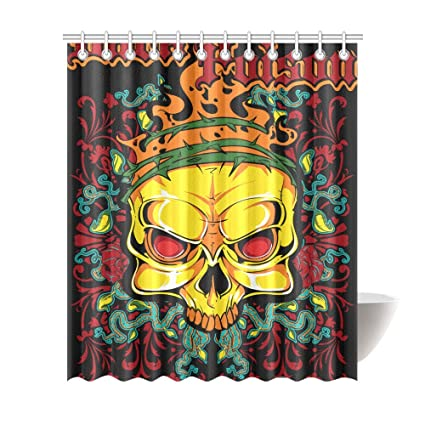 Amazon Gothic Punk Skull Shower Curtains 72 X 84 Inches