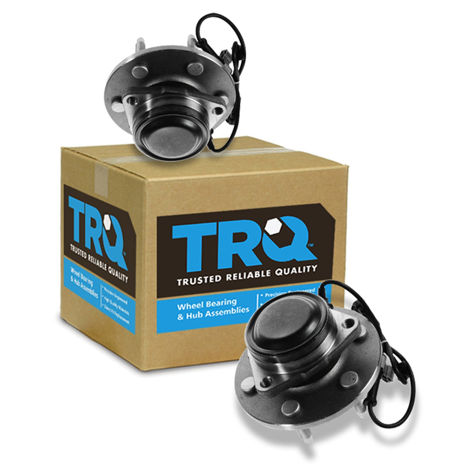TRQ Front Wheel Bearing & Hub Assembly Pair for Chevy GMC Pickup Truck 2WD Van by TRQ