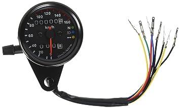 iztor universal black motorcycle dual odometer speedometer gauge 0 rh amazon ca