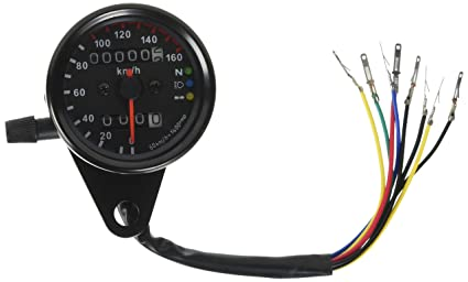 Amazon.com: Iztor Universal black Motorcycle Dual Odometer ... on tachometer installation, tachometer cable, tachometer sensor, circuit diagram, turn signal diagram, tachometer wiring function, tachometer schematic, tachometer repair, koolertron backup camera installation diagram, fuse block diagram, vdo tachometer diagram, tachometer connectors, tachometer wiring list,