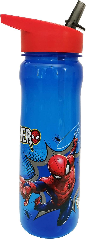 polypropyl/ène 600 ML Bleu et Rouge Marvel Bouteille deau r/éutilisable