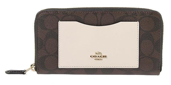 5fa7d6d05898 Coach Accordion Zip Wallet In ColorBlock Signature