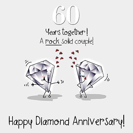 60th aniversario de boda Tarjeta de felicitación - Bodas de ...