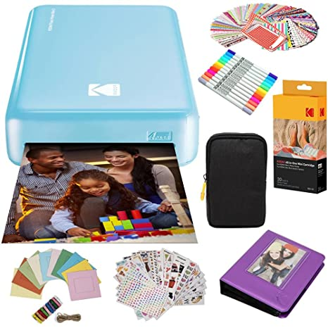 Amazon.com: Kodak Mini2 Instant Photo Printer (Blue) Gift ...