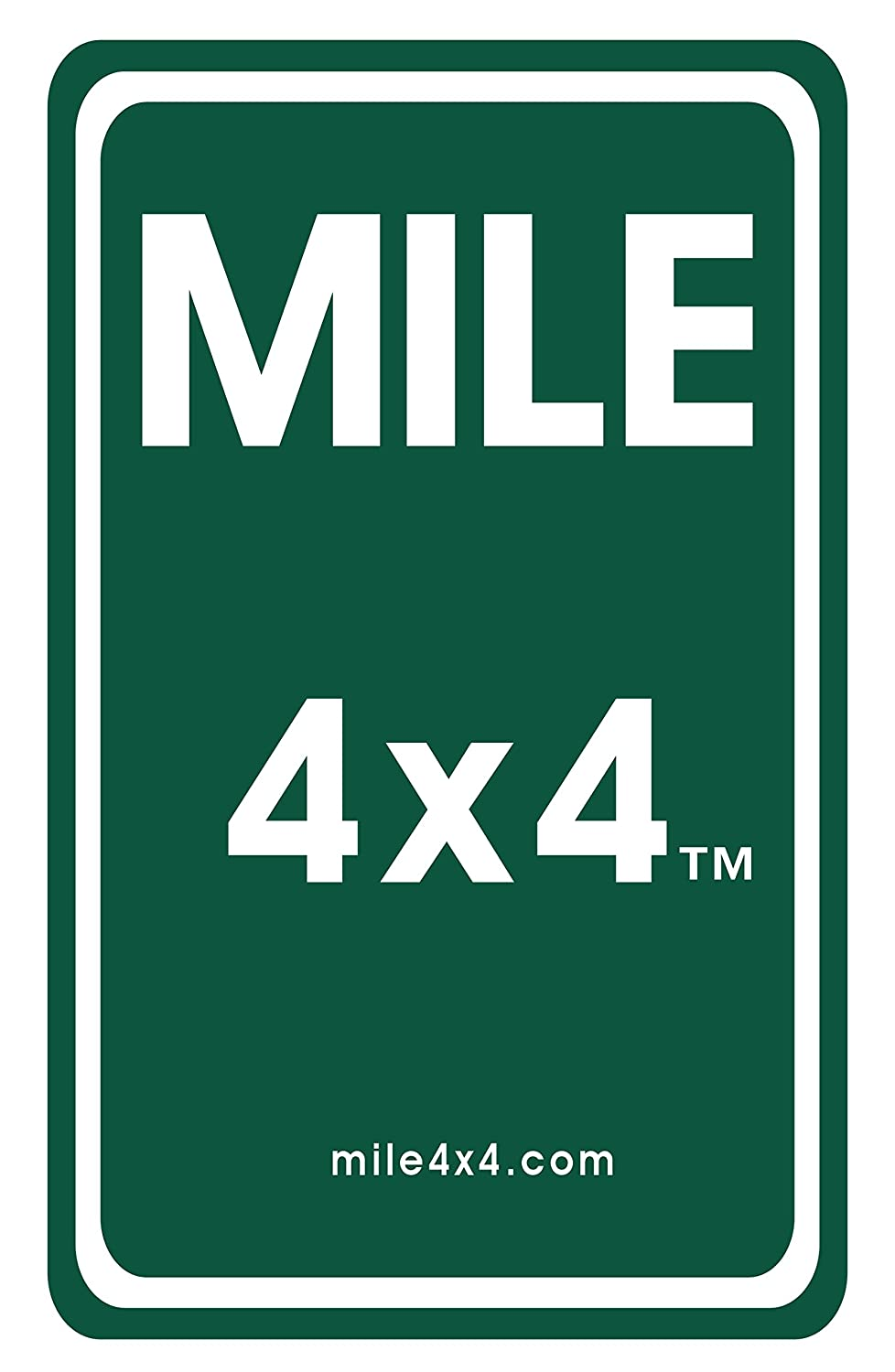 Amazon com mile 4x4 sticker on mile marker design sports outdoors