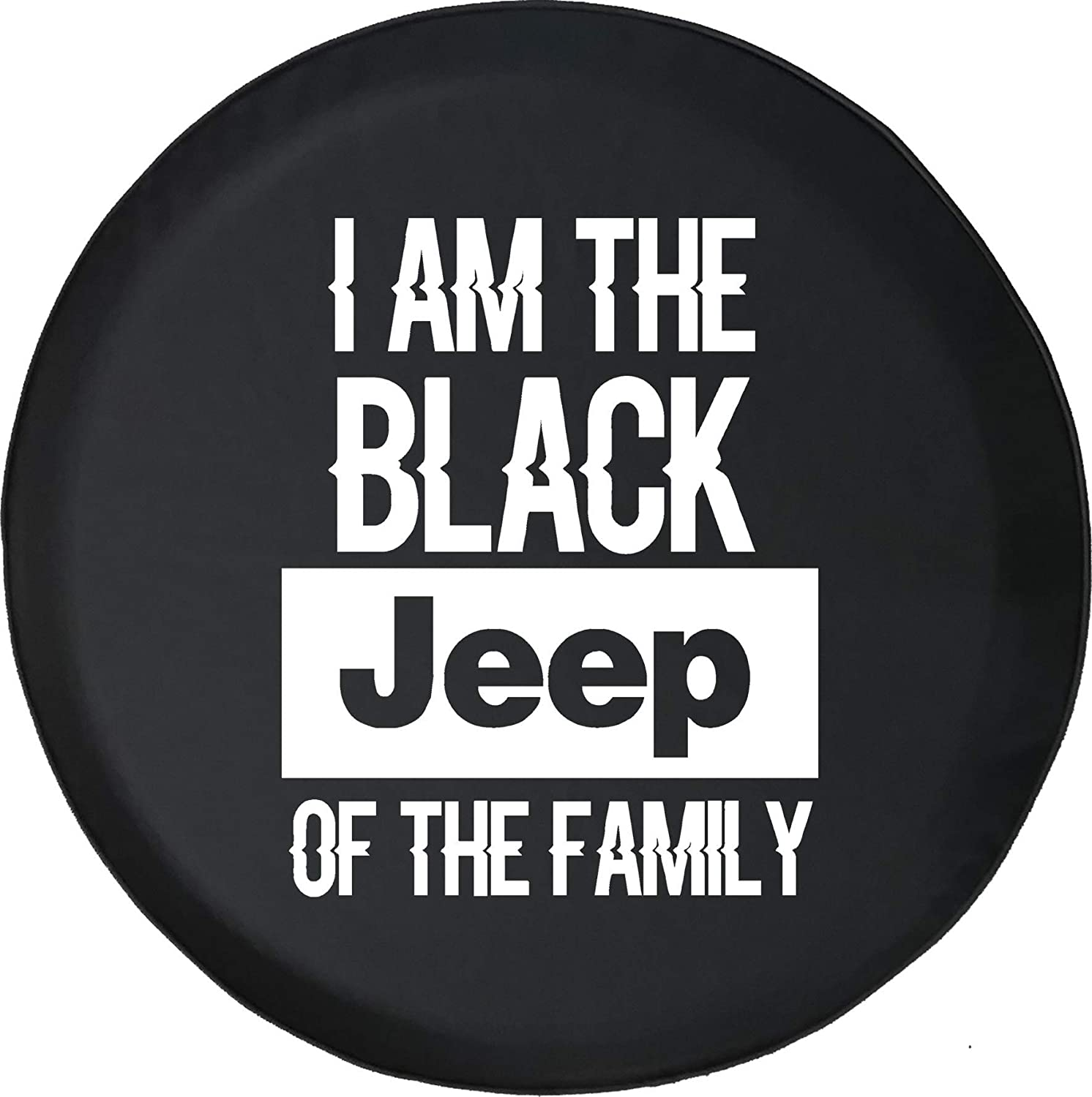 Fits: Jeep Wrangler Accessories, SUV, Camper and RV Spare Tire Cover Black Sheep of The Family 4x4 Black Size 33 Inch