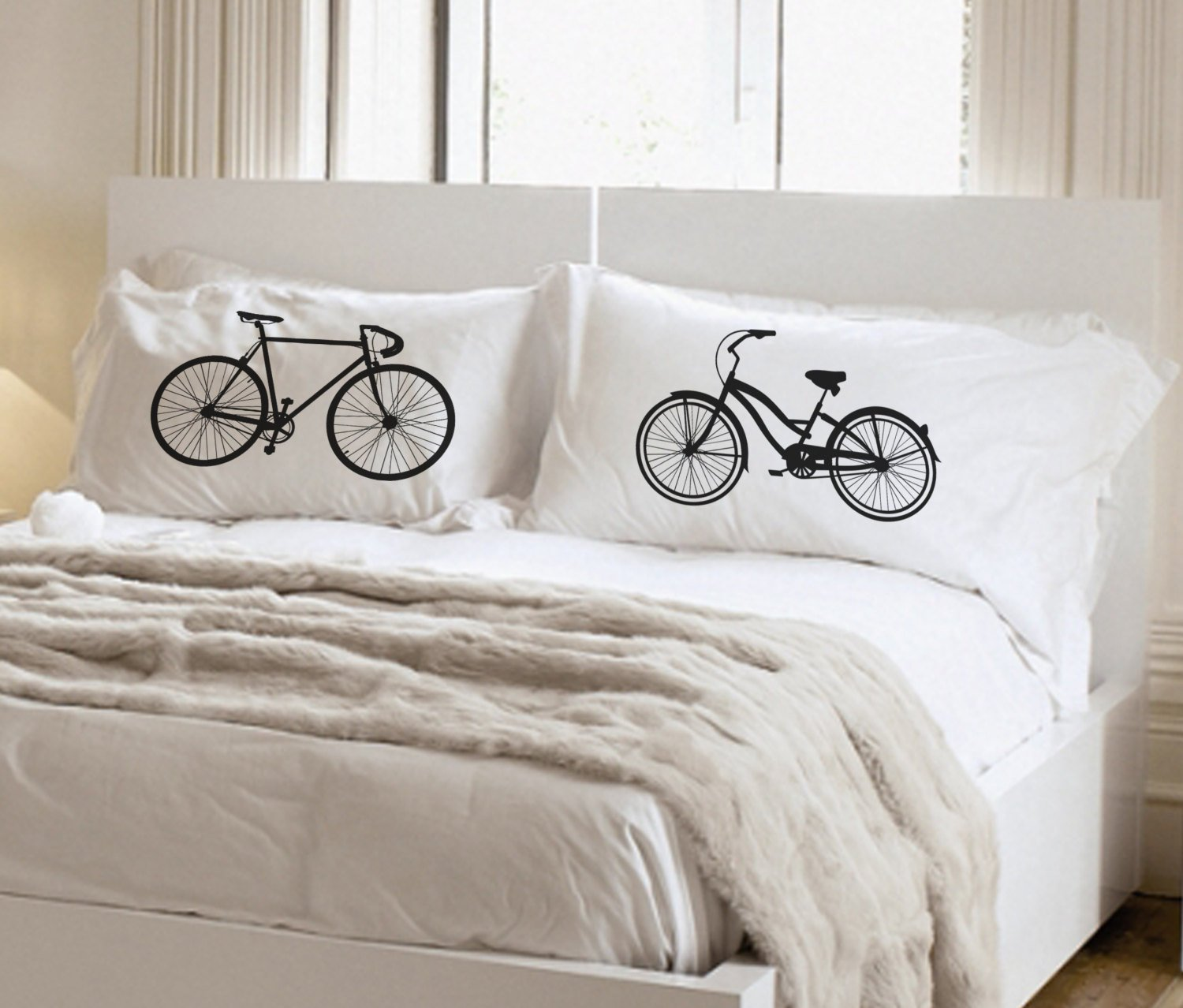 Amazon.com: Bike Themed, Bicycle, Gift for Bike Riders, Pillowcase ...