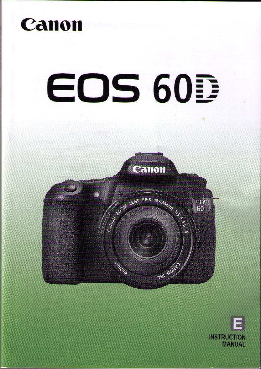 Canon EOS 60D Instruction Manual Paperback – 2012