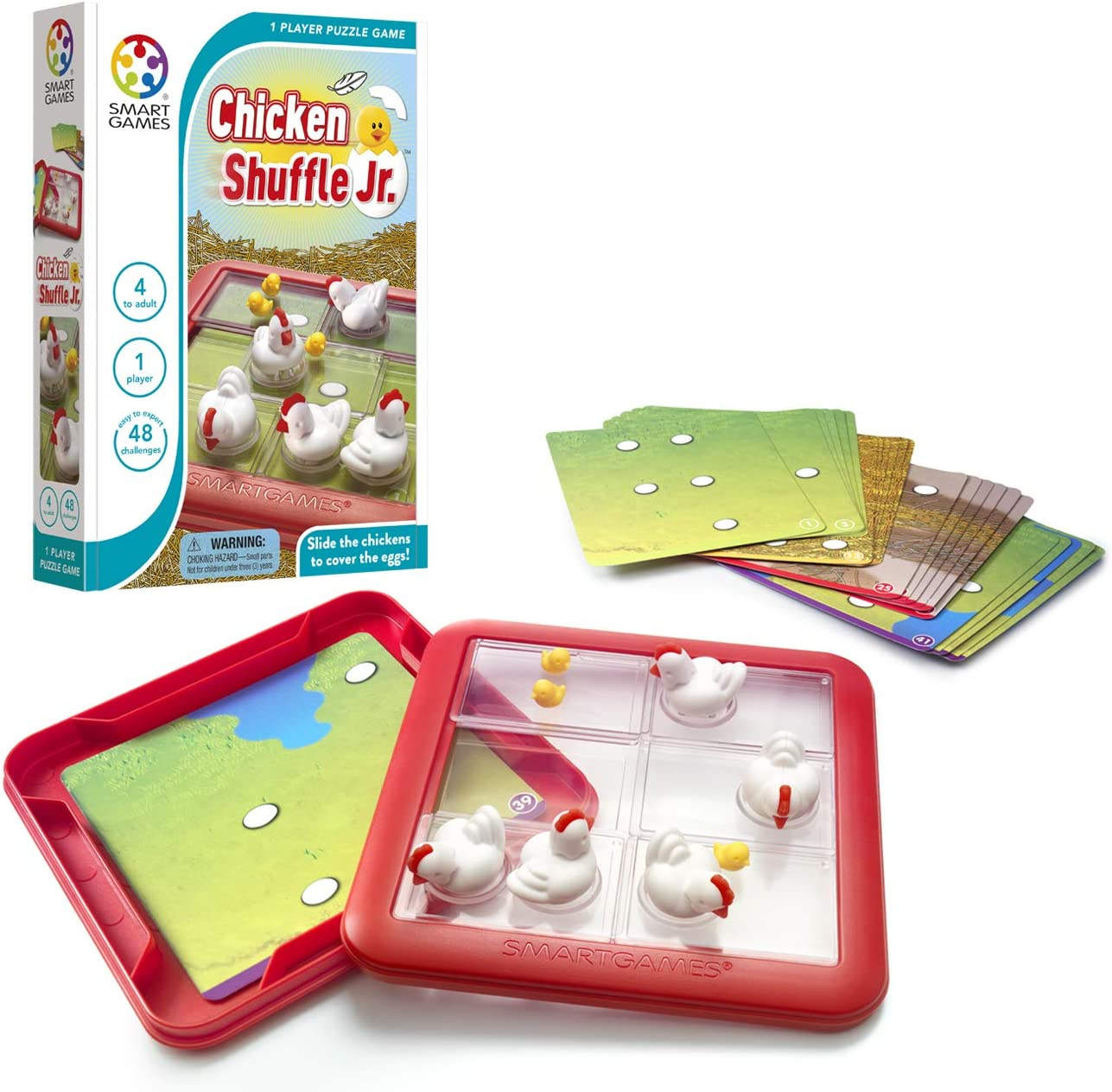 Young Kids Are Being Shuffled From One Activity To Another In >> Smartgames Chicken Shuffle Jr Travel Game For Kids A Cognitive Skill Building Brain Game Brain Teaser For Ages 4 Up 48 Challenges