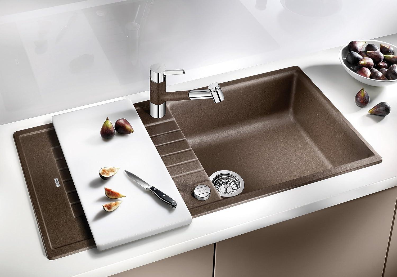 Spülbecken blanco silgranit  Blanco Zia XL 6 S Küchenspüle, Silgranit, anthrazit-schwarz ...