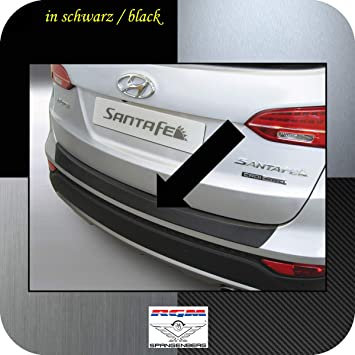 Richard Grant Mouldings Ltd. Original RGM ladekant Protección Negro para Hyundai Santa Fe III (DM) SUV Combinado Facelift Diseño años 09.2012 - 08.2015 ...