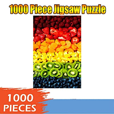 Colored Fruit 1000 Piece Jigsaw Puzzle 1000 Piece Puzzles for Adults Children Colorful Food Series Puzzle Game Educational Toys,DIY Set Ideal Gift,Perfect Home Decoration: Home & Kitchen