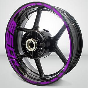 Matte Purple Motorcycle Rim Wheel Decal Accessory Sticker for Kawasaki Ninja 650R