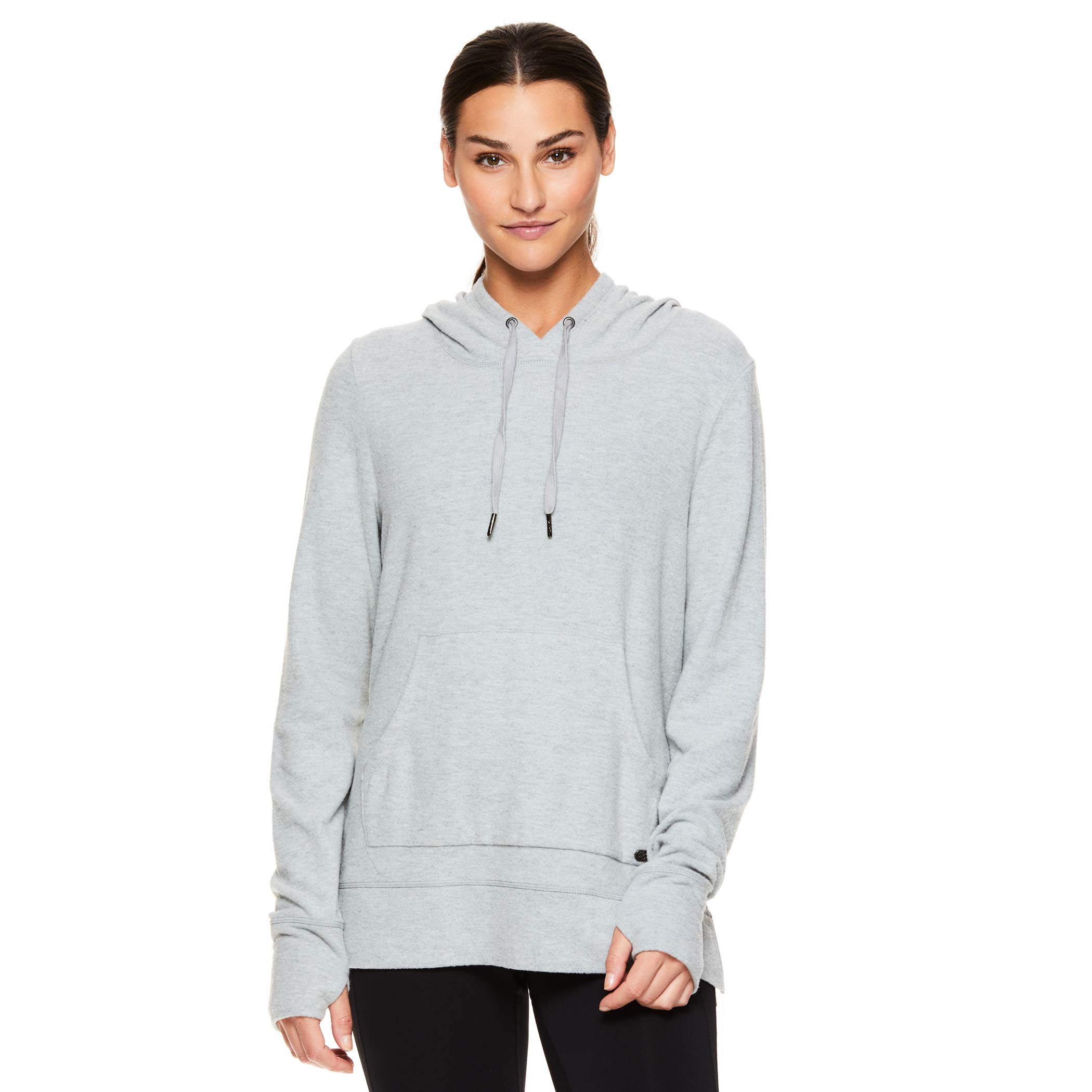 Gaiam Women's Lightweight Pullover Hoodie - Activewear Workout & Yoga Sweater - Elle Cozy Grey Heather, X-Large by Gaiam