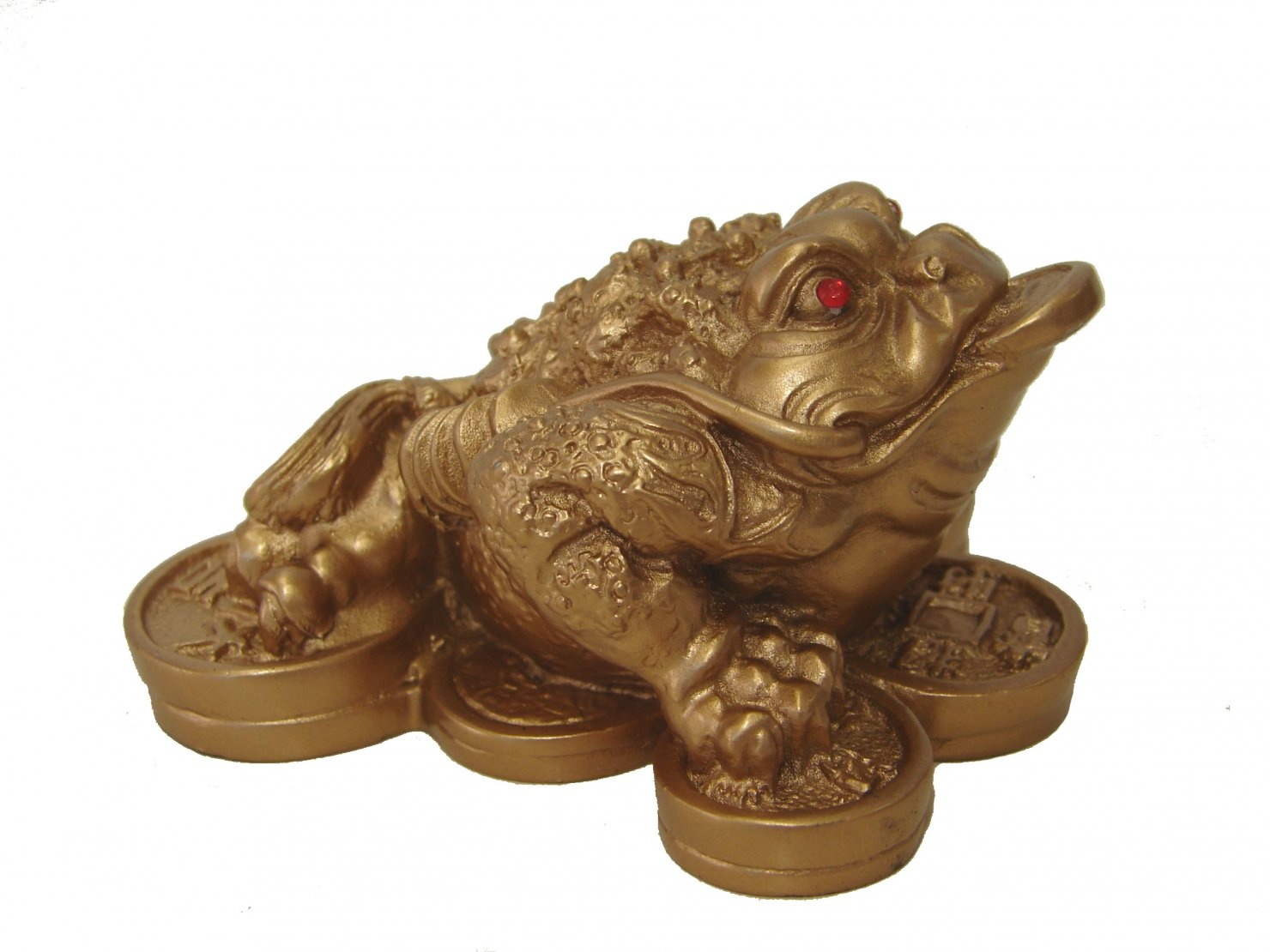 1 X Feng Shui Money Frog /Money Toad Attract Wealth Feng Shui Import