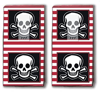 20 Taschentücher 2x 10 Jolly Roger Piratenflagge Pirat