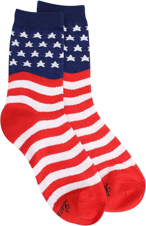 K Bell American Flag Red//White//Blue Women/'s Knee High Socks