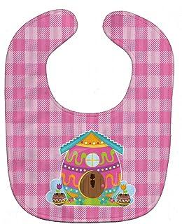 Caroline's Treasures Easter Baby Bib, Rabbit's House, Large